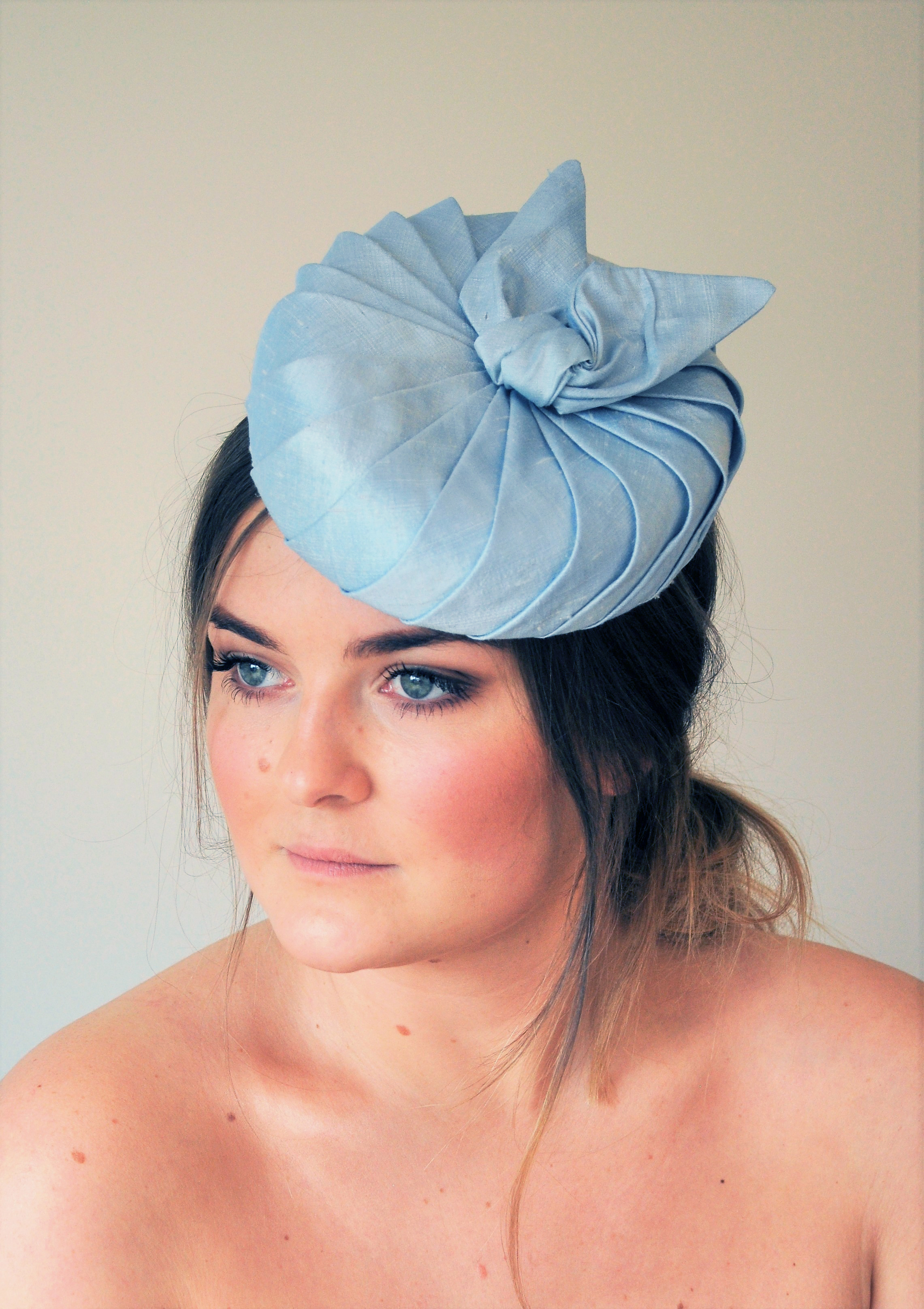 CAMEO ~ £150 ~ Pale blue dupion silk pill box hat with silk lining.  Fabulous for a summer wedding but would also be great at The Goodwood  Revival. 91f696ed7c1